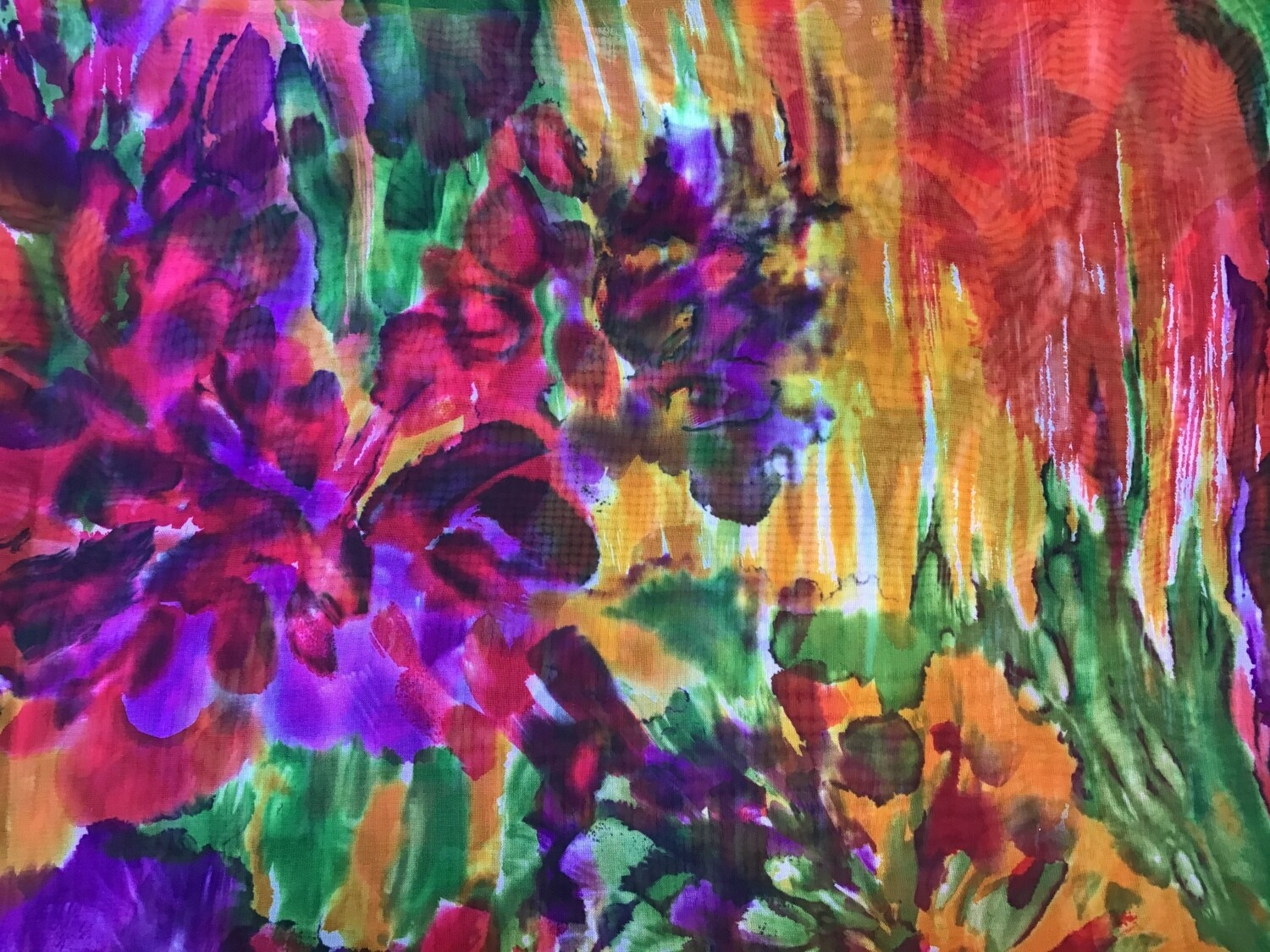 Fabric: Sheer / Colorful