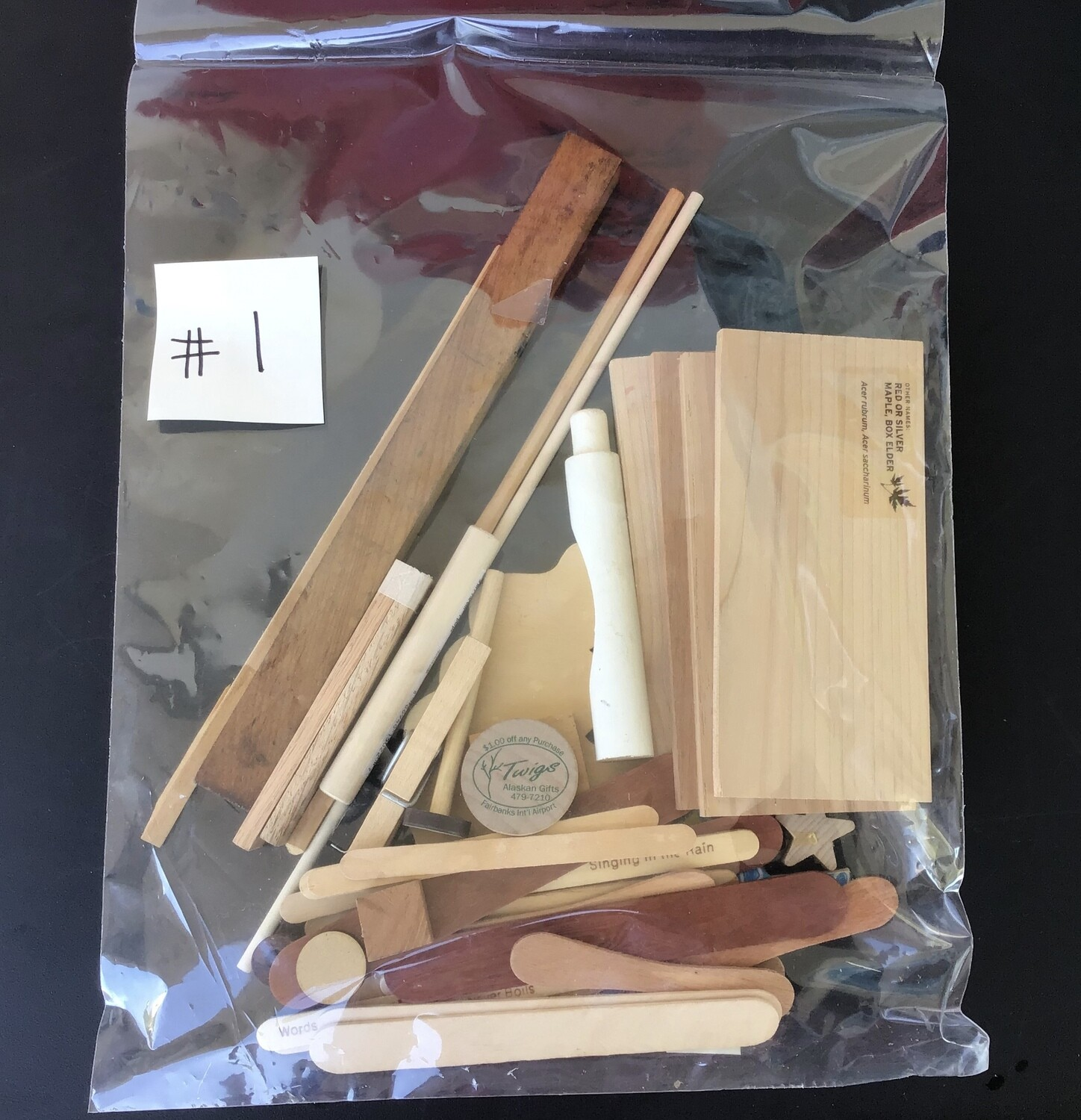 Bag of Wood Pieces #1