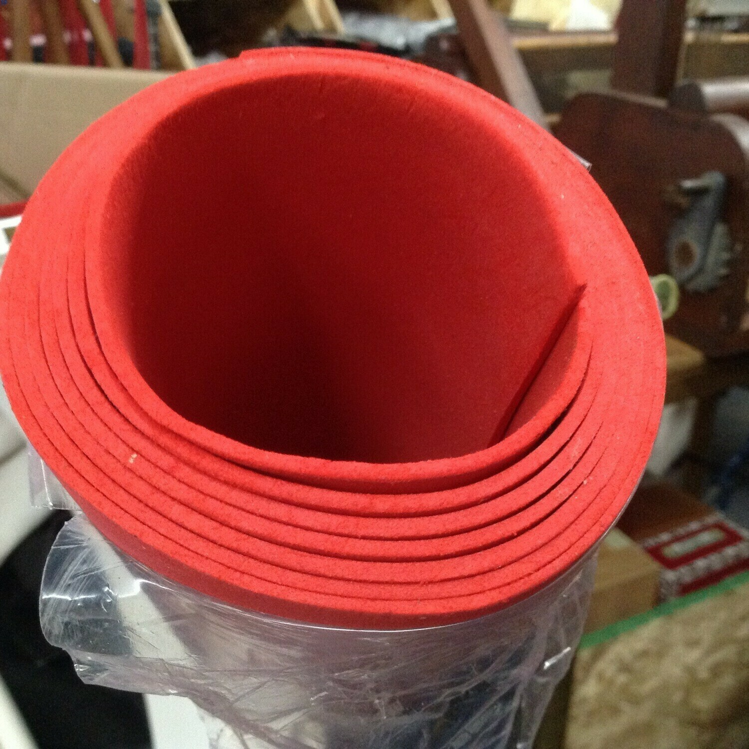Craft Foam / Roll of Red