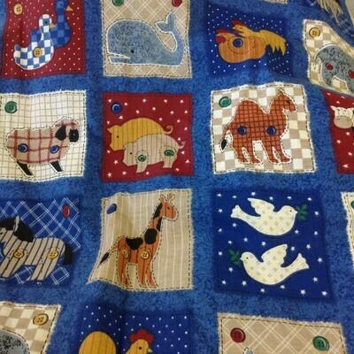 Fabric: Animals! / Cotton
