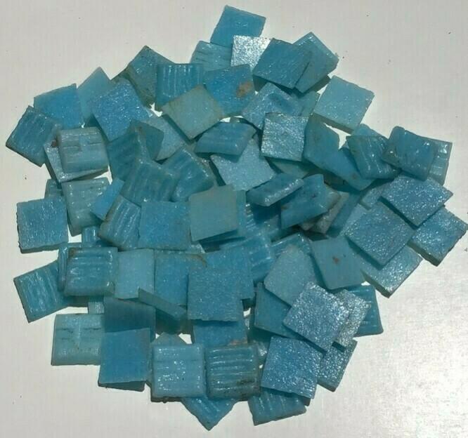 Mosaic Tile: Light Blue, 100 Pieces