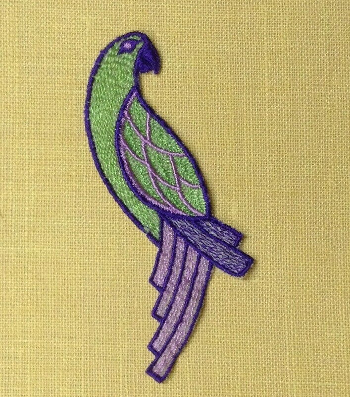 Embellishment / Green Parrot