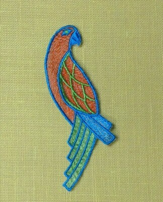 Embellishment / Orange Parrot