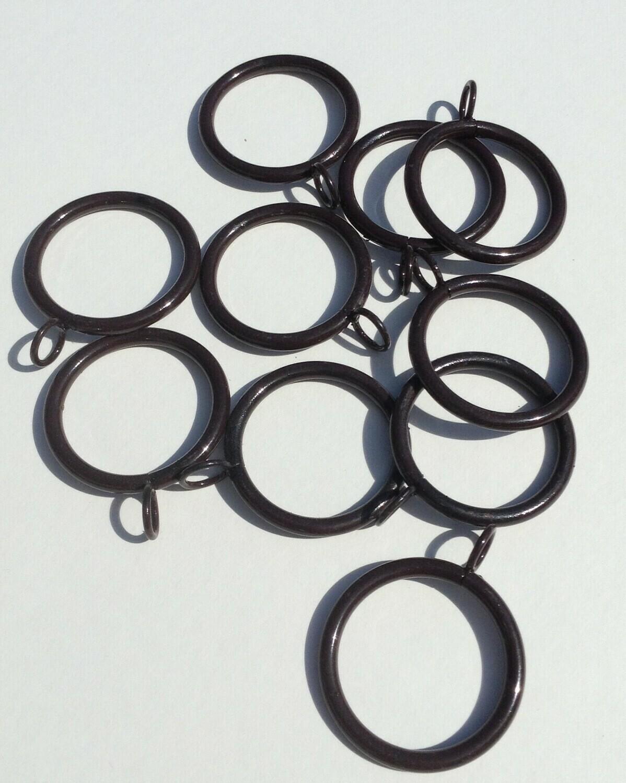 """Metal Rings -  2"""" Diameter / Set of 10 / Brown"""