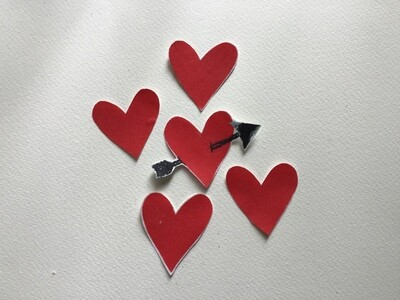 Iron-on Heart Patches