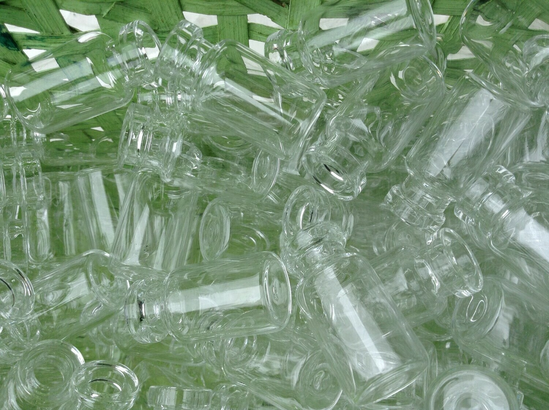 Miniature Glass Bottles (without lids)