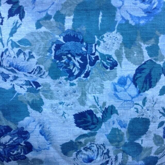 Fabric: Blue Floral / Cotton