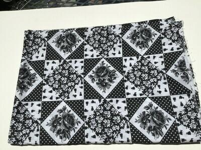 Fabric: Black & White w/ Designs, Cotton