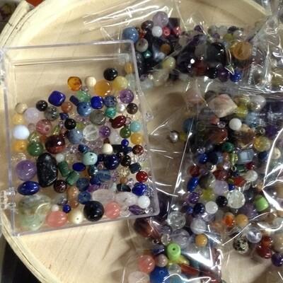 Mixed Gemstone Bead Bags