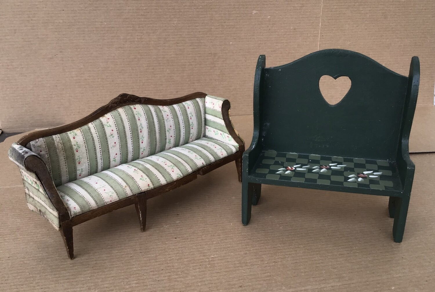 Miniature Furniture- Couch and Bench