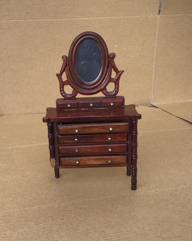 Miniature Furniture- Dresser with Mirror