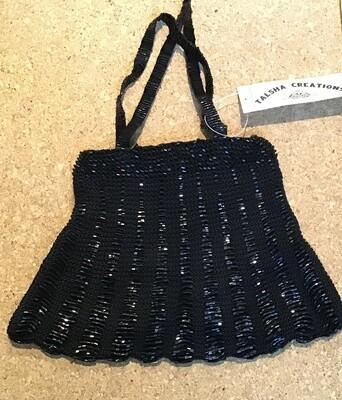 Beaded Evening Bag / Black