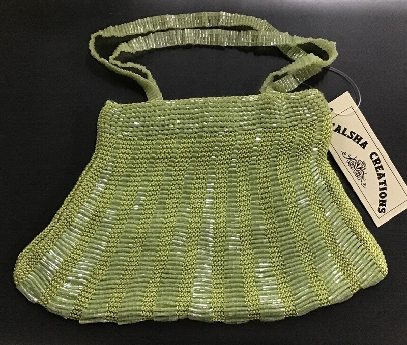 Beaded Evening Bag / Lime