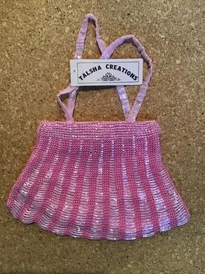 Beaded Evening Bag / Pink