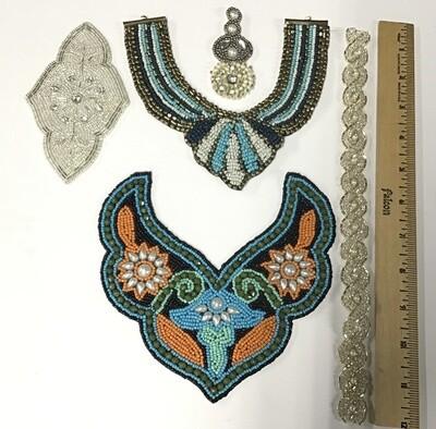 Fabric Embellishments/ Set of 5