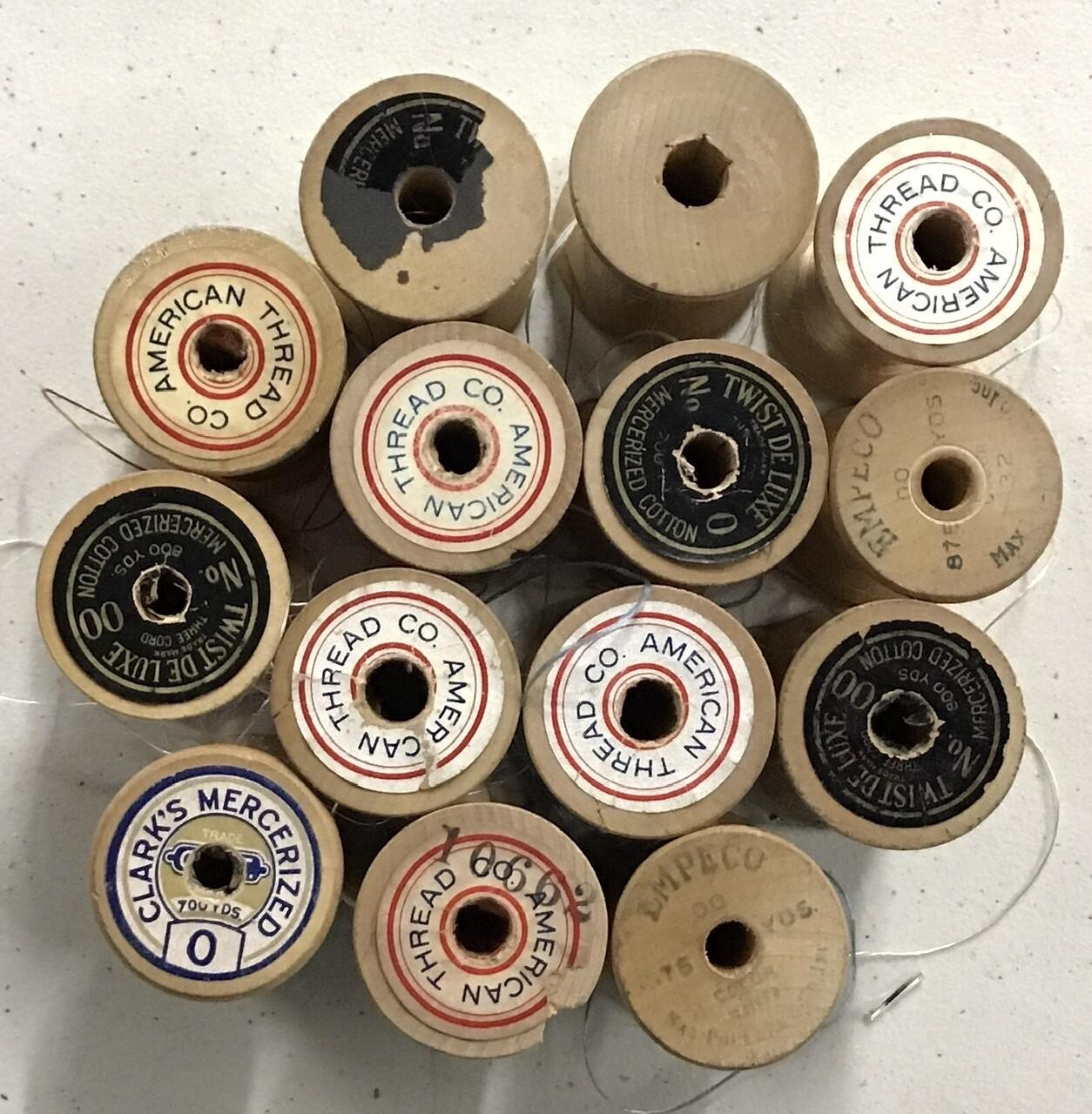 Vintage Thread Spools - Set of 14