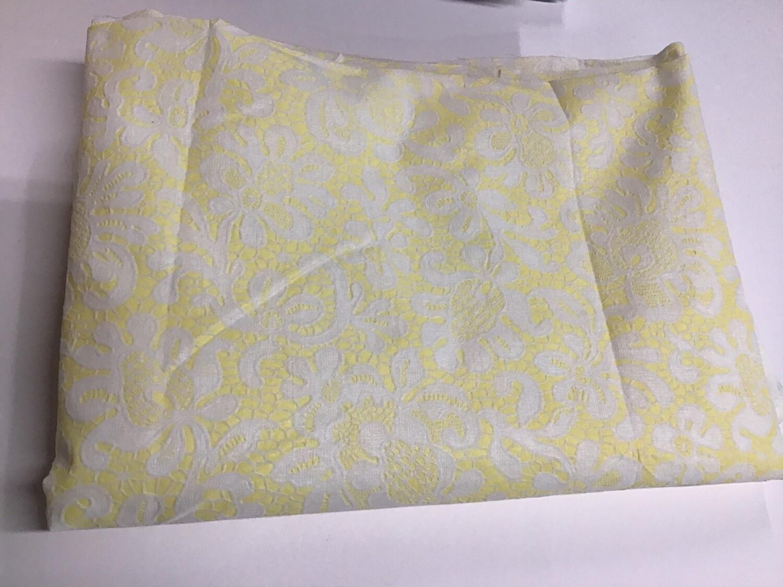 Fabric: Sheer Yellow & White