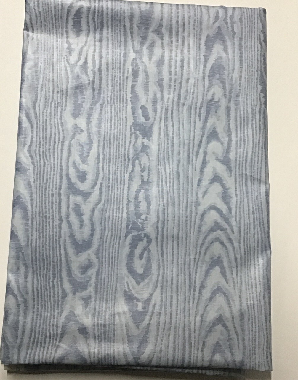 Fabric: Cotton Moire, in Blue Wood Grain