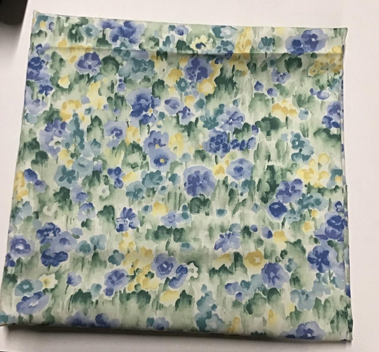 "Fabric: Cottony -feel, ""Flowers In Watercolor"""