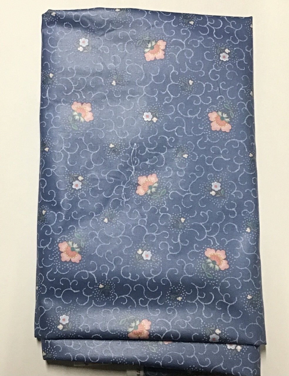 Fabric: Blue Floral w/ Peach
