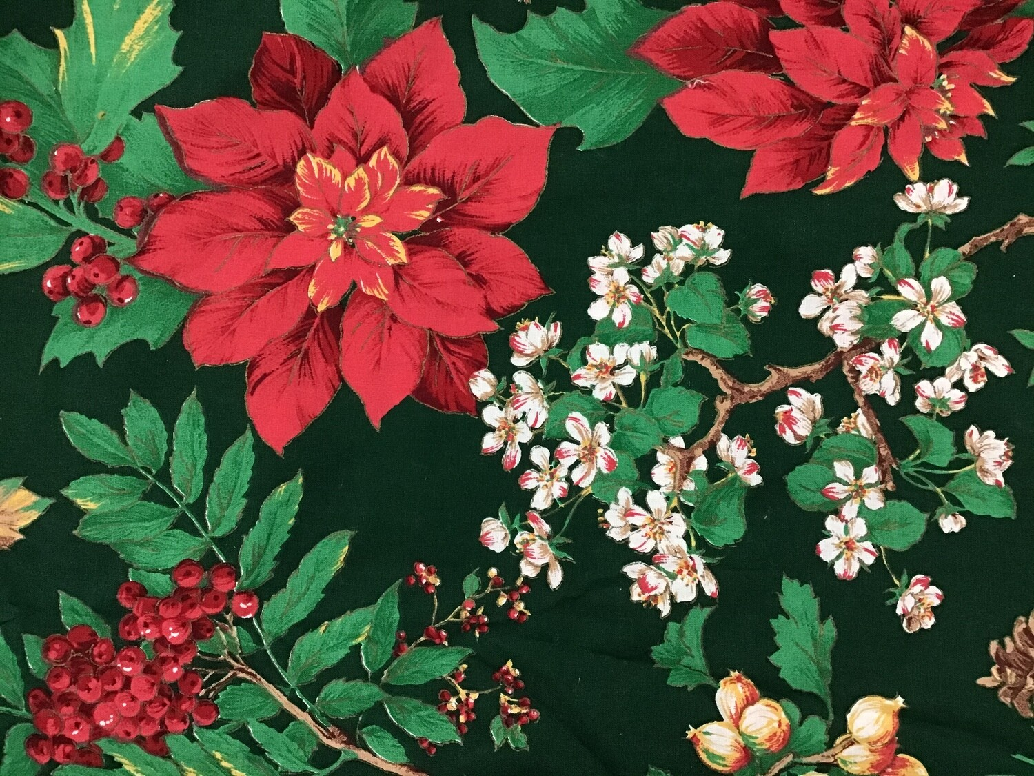 Fabric: Christmas Floral / Cotton
