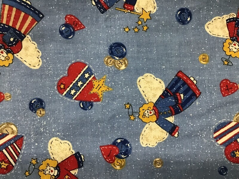 Fabric: Christmas Blue Angels / Cotton