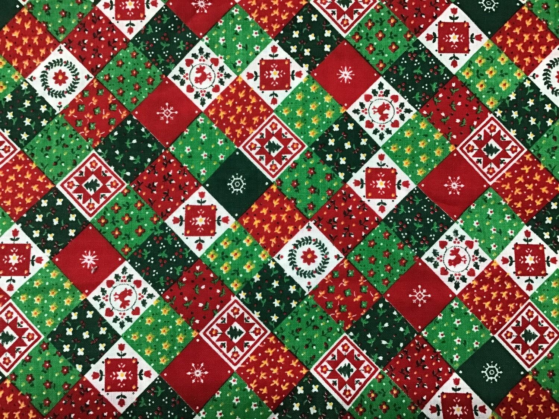 Fabric: Christmas Squares / Cotton