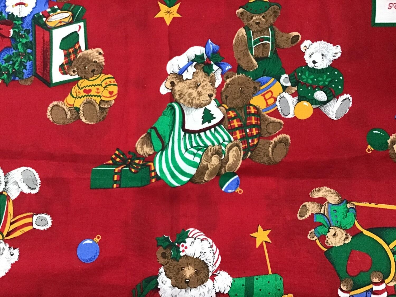 Fabric: Christmas Teddy Bears / Cotton