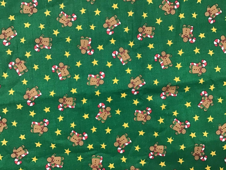 Fabric: Christmas Mini Teddy Bears / Cotton