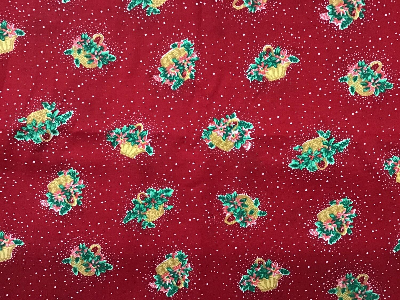Fabric: Christmas Baskets / Cotton