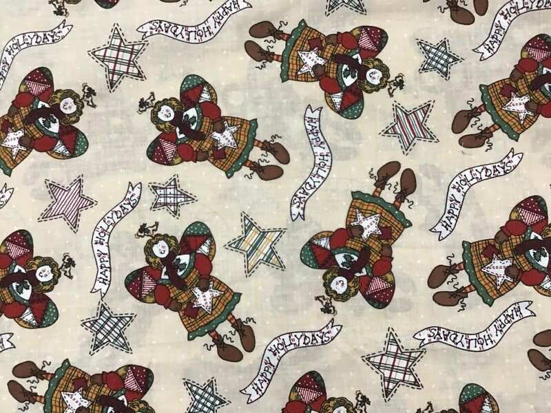 Fabric: Christmas Patchwork Angels / Cotton