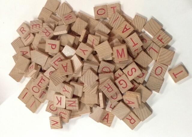 Bag of Scrabble Tiles