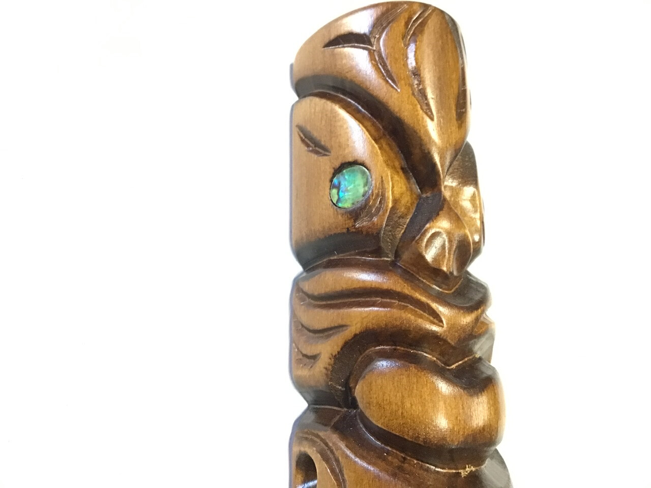 Tiki with Abalone Eyes