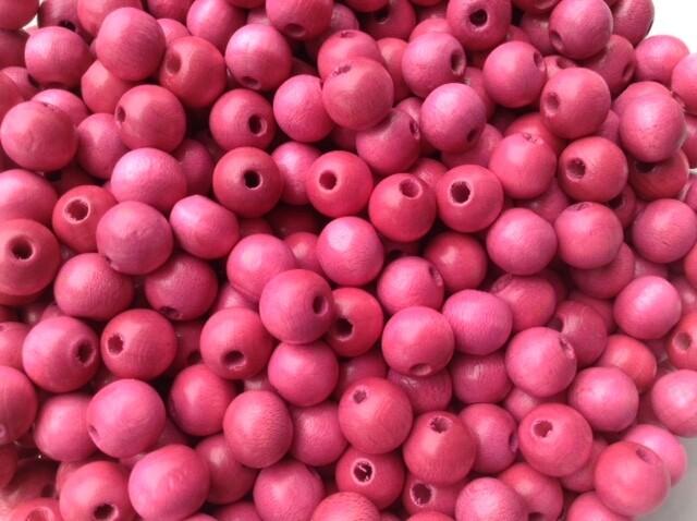Beads: Wood / Pink