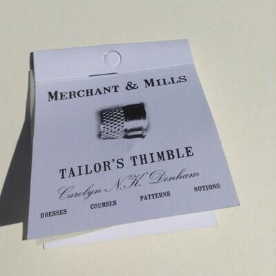 Thimble: Capless Tailor's Thimble from Merchant & Mills