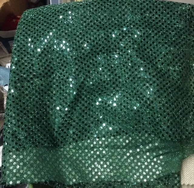 Fabric: Green Sparkles