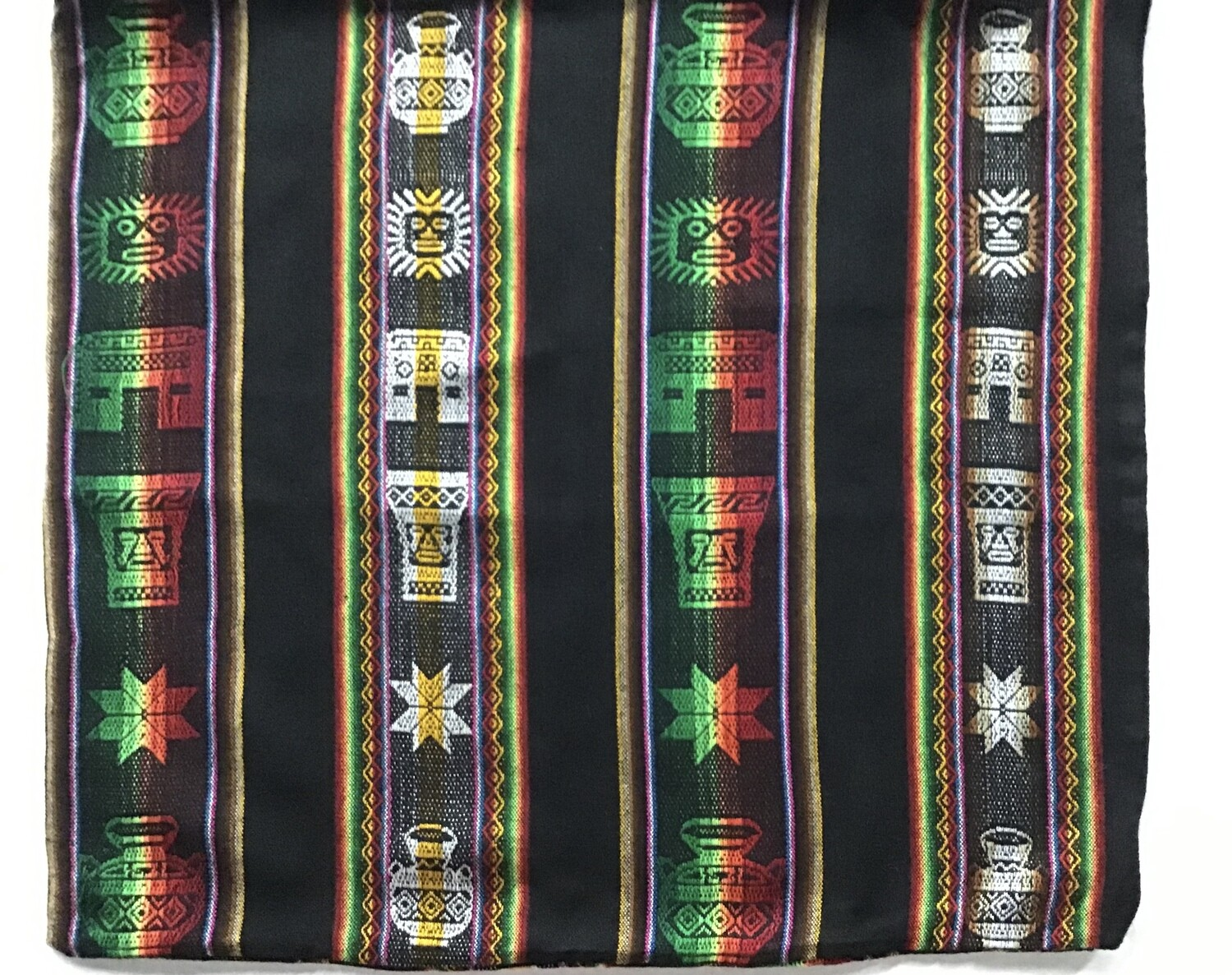 Peruvian Pillow Cover - Black