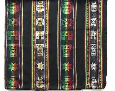 Peruvian Pillow Cover - Black