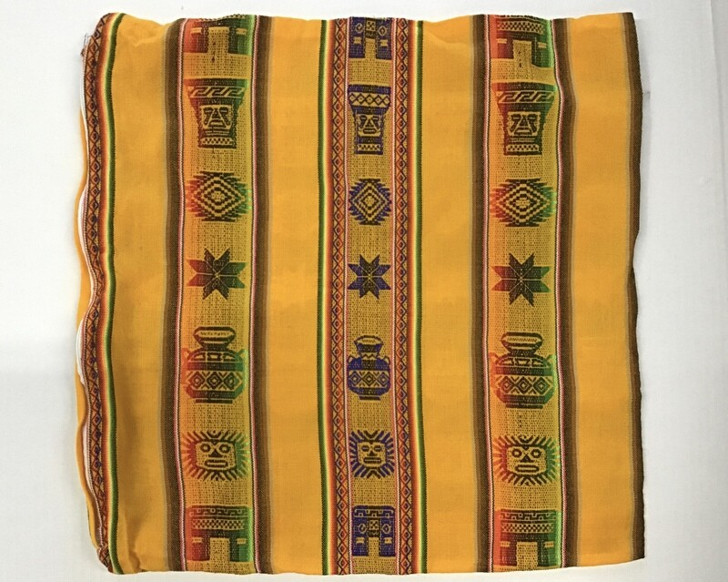 Peruvian Pillow Cover - Yellow