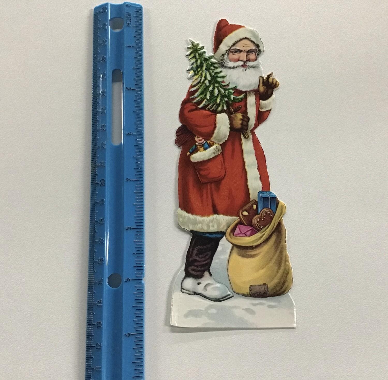 Vintage Paper Santa #A