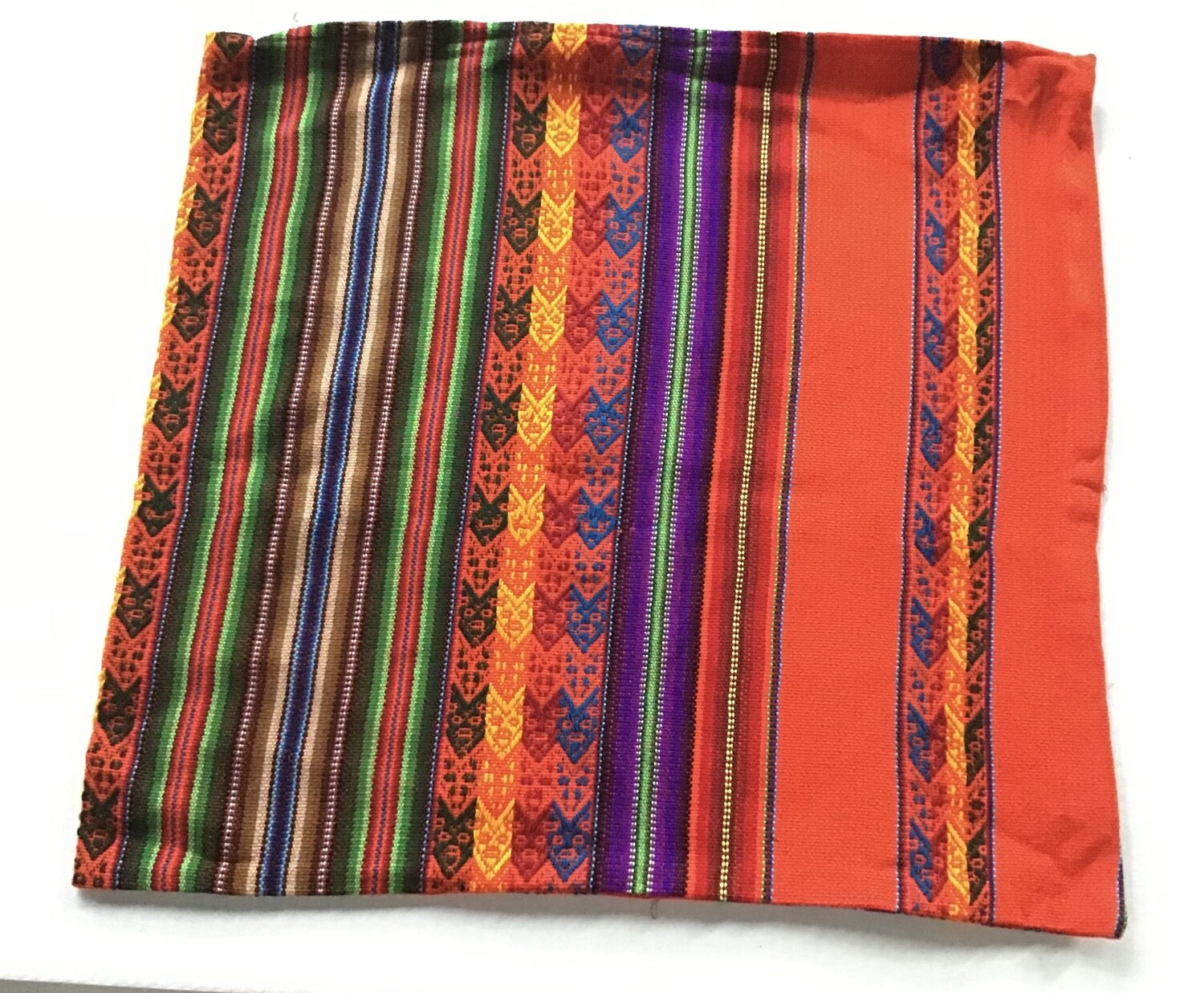 Peruvian Pillow Cover - Orange