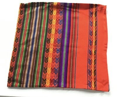 Peruvian Pillow Cover - Orange