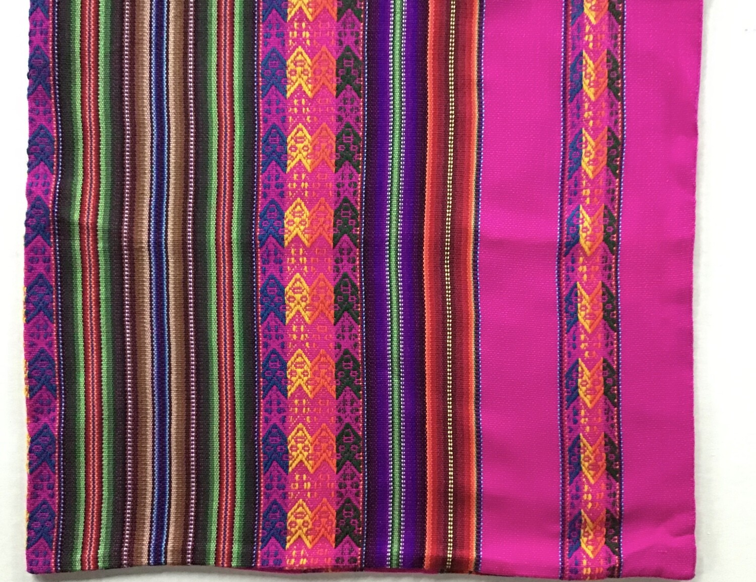 Peruvian Pillow Cover - Bright Pink
