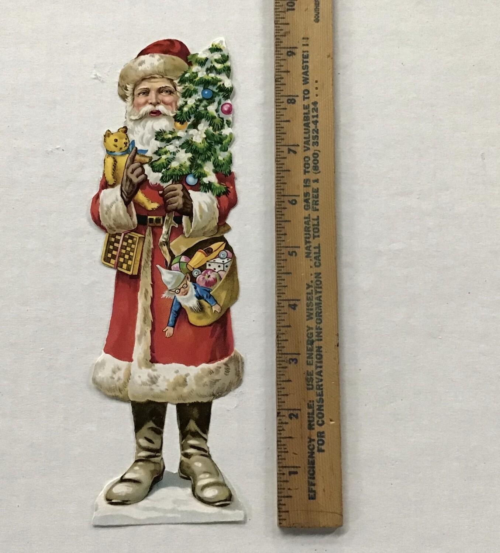 Vintage Paper Santa #D