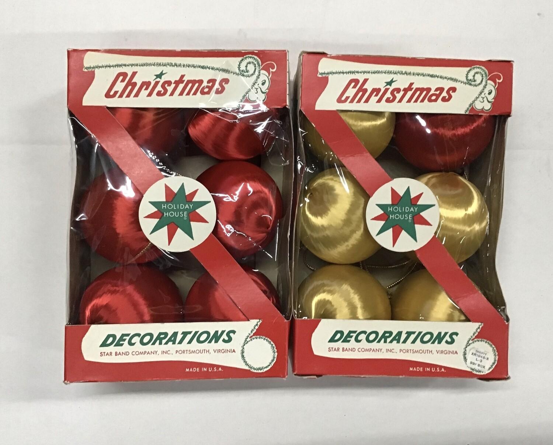 Vintage Satin Christmas Ornaments #2