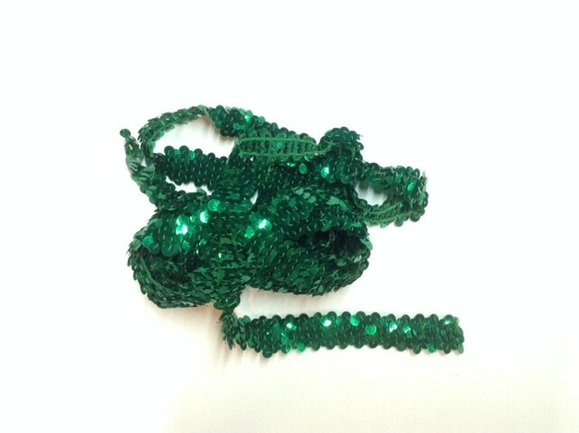 Green Sequin Trim
