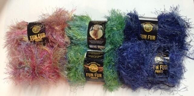 "Yarn: ""Fun Fur"" Variegated Selection"