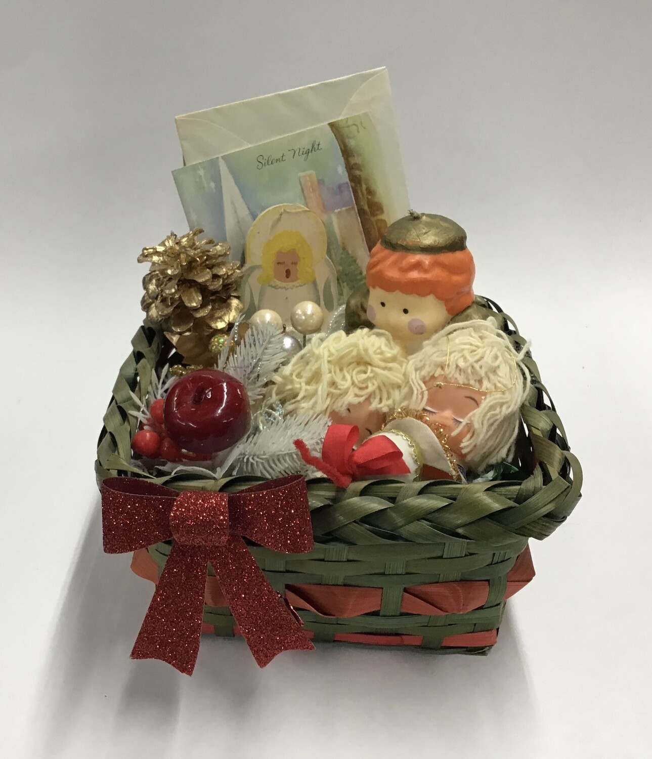 Vintage Christmas Basket #1