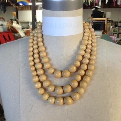 3 Strand Bead Necklace