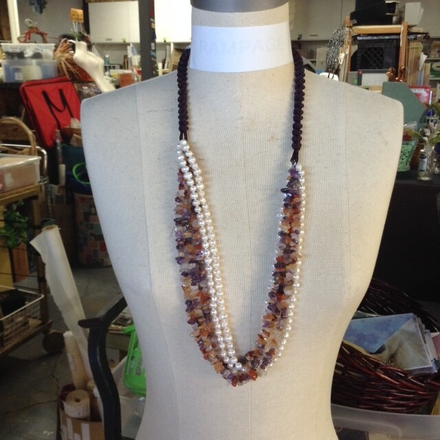 Freshwater Pearl & Gemstone Necklace